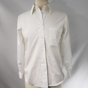 Nordstrom Foxcroft White Button Up Shirt